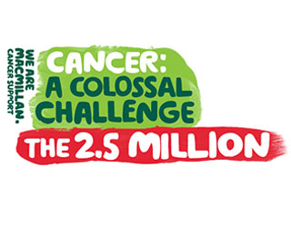 Text reads: 'Cancer: a colossal challenge. The 2.5 million.'