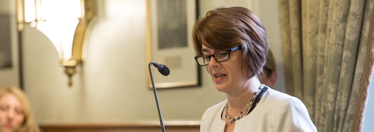 Jane Ellison speaking at an APPGC meeting.