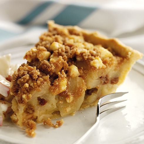 Apple and Wensleydale crumble tart