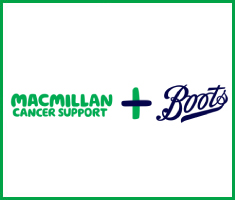 Macmillan Cancer Support and Boots corporate partnership logo