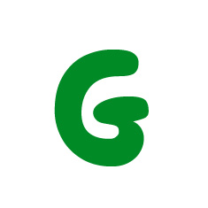 Capital letter G in green Macmillan font on white background
