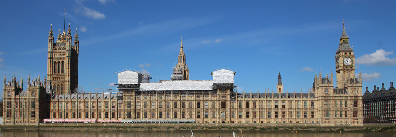 House of parliament from across the River Thames.
