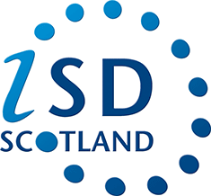 The letters 'iSD' written with 'Scotland' underneath