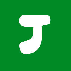 Capital letter J in white Macmillan font on green background