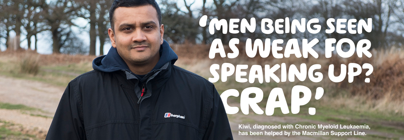 Men and cancer - Kiwi, diagnosed with leukaemia, was helped by the Macmillan Support Line.