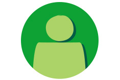 Icon showing link to personalised My Macmillan account