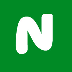 Capital letter N in white Macmillan font on green background