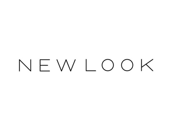 The words 'New Look' written in black letters