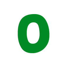 Capital letter O in green Macmillan font on white background