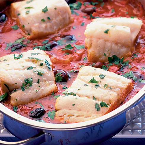 Recipes information and support macmillan cancer support one pot fish with black olives tomatoes forumfinder Images