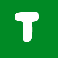 Capital letter T in white Macmillan font on green background