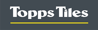 Topps Tiles in white letters on a grey background