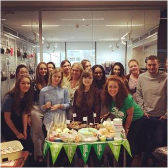 A group of New Look employees at a World's biggest coffee morning