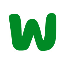 Capital letter W in green Macmillan font on white background