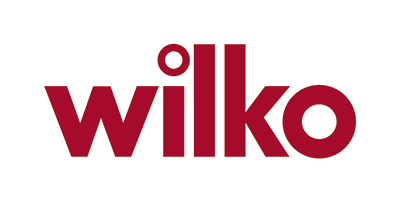 The word 'Wilko' written in red letters