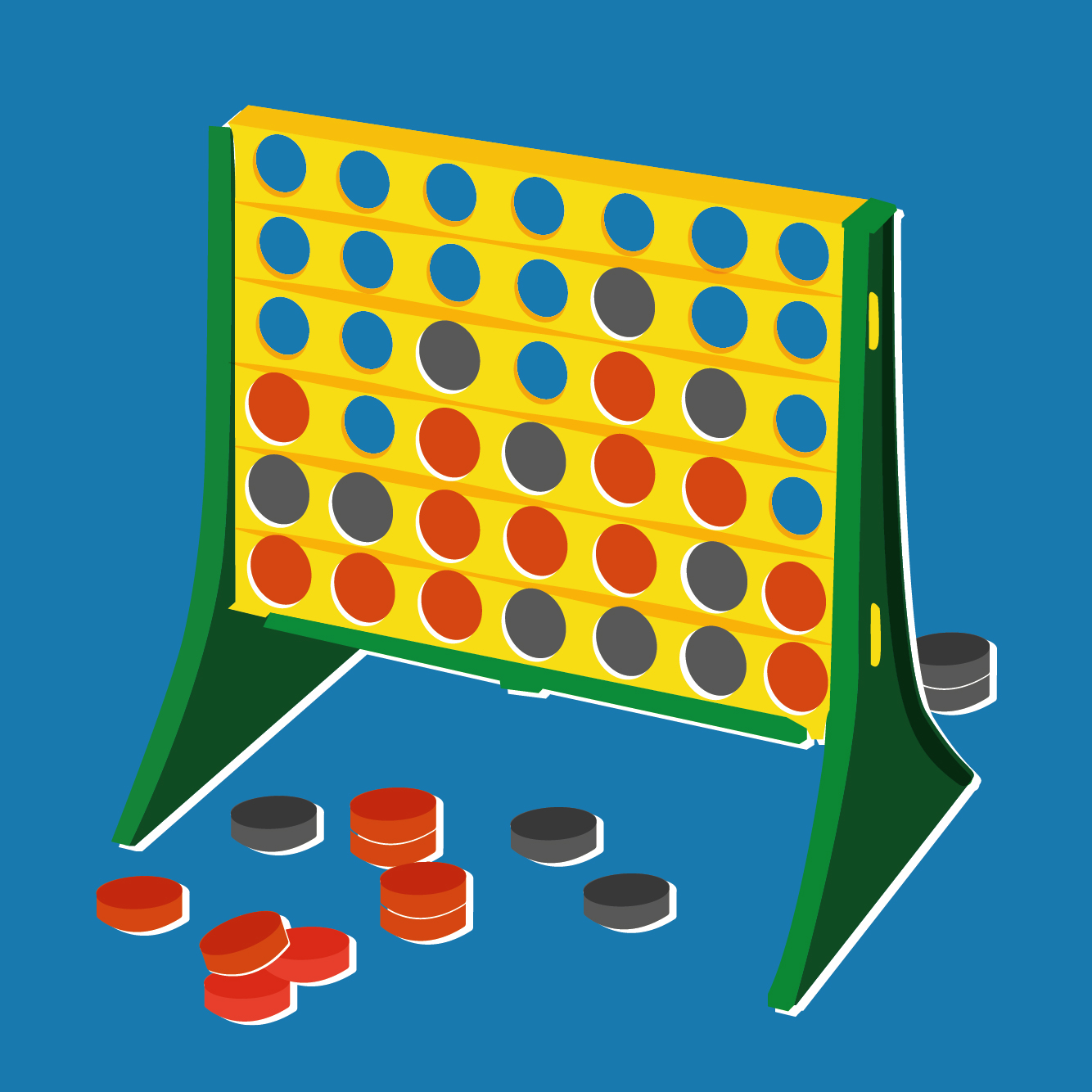 A connect 4 game