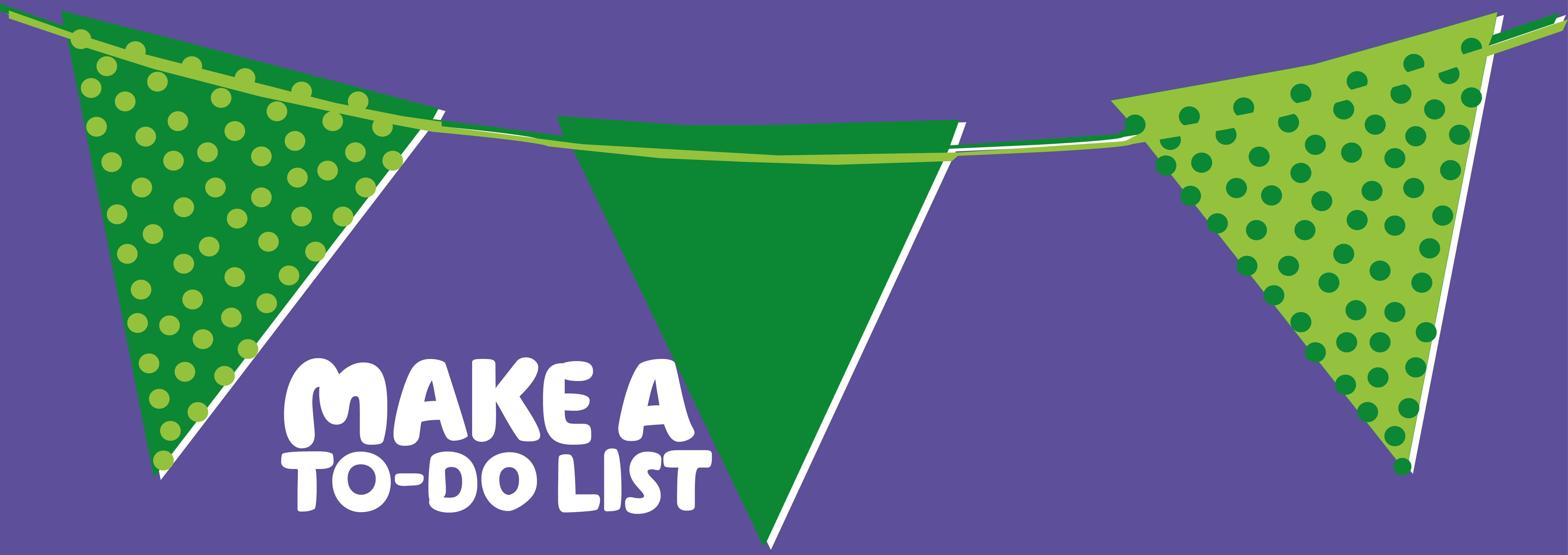 Bunting with the words 'Make a to-do list'