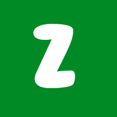 Capital letter Z in white Macmillan font on green background