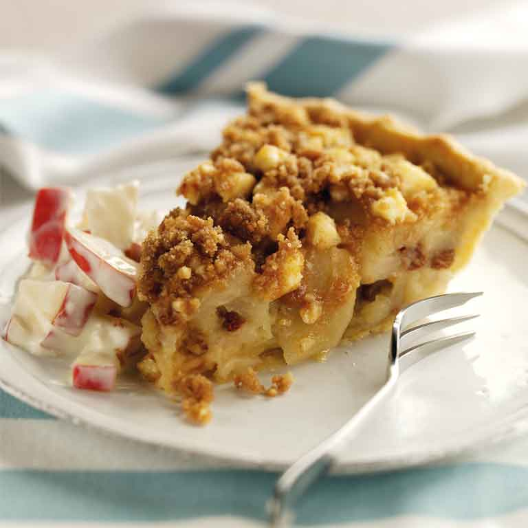 Apple Wensleydale crumble tart