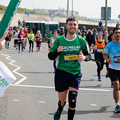 A Team Macmillan runner
