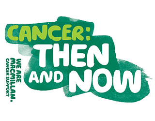 Text reads: 'Cancer: then and now'.