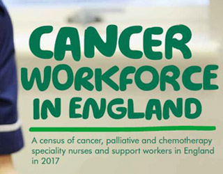 The cover of our Cancer Workforce in England report.