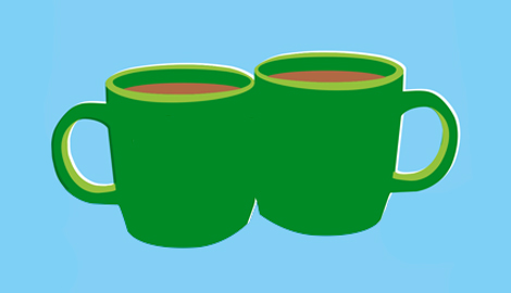 An illustration of two cups, side by side.