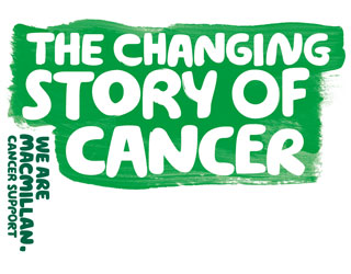 Text reads: 'The changing story of cancer - We are Macmillan Cancer Support.'