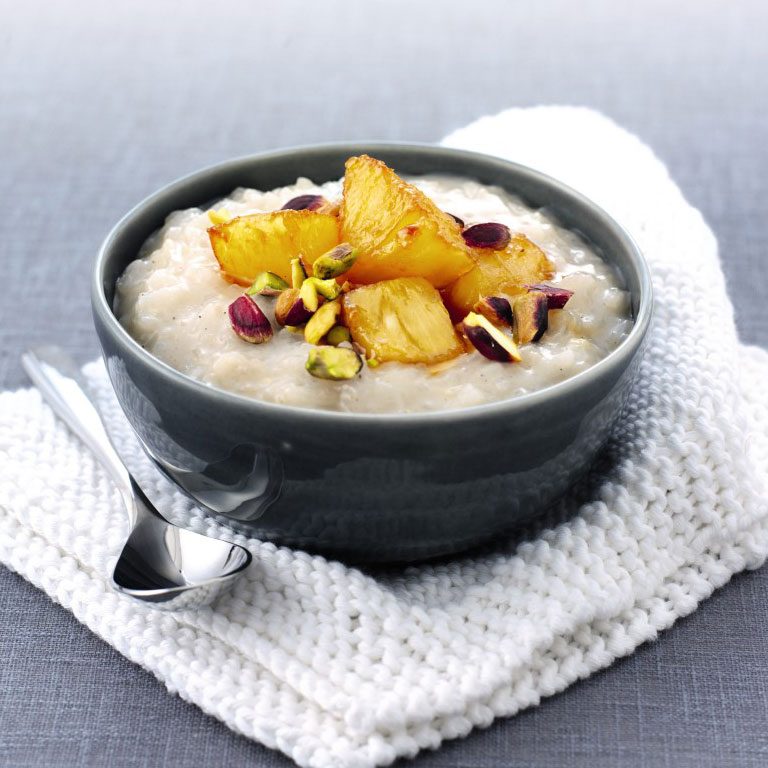 Coconut and cardamom rice pudding