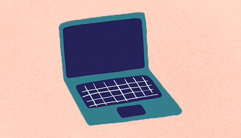 An illustration of a laptop.