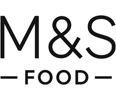The words 'M & S' sit above 'Food' all in black writing