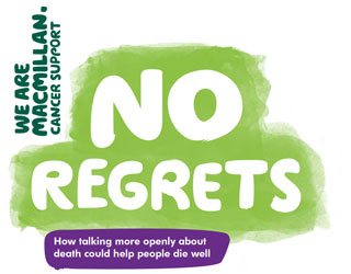 Text reads: 'No regrets: How talking more openly about death could help be die well.'