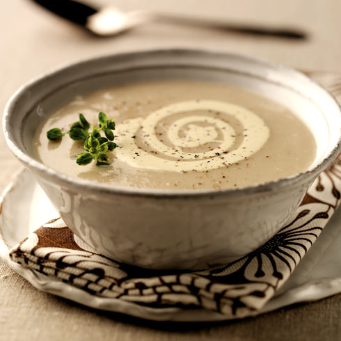 Parsnip and coconut soup