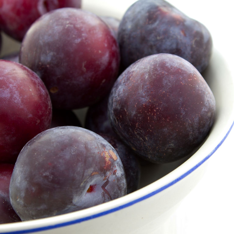 Bowl of plums