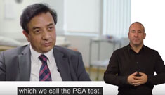 Prostate cancer and the PSA test (British Sign Language)