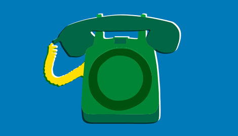 An illustration of a telephone.