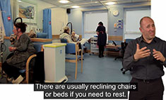 An image thumbnail of a BSL video explaining what chemotherapy is