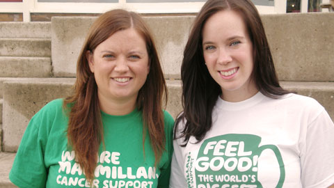 Sarah and Aimee from Cheshire fundraising office