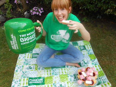 Sophie at a World's Biggest Coffee Morning