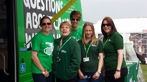 Betty the Macmillan Mobile Information Bus in the North and her team