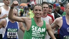 Team Macmillan runner Sean at the London Marathon