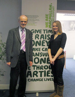 Macmillan Yorkshire volunteers Ron Clark and Emily Robinson