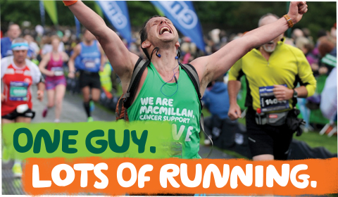 Steve is doing lots of running for Macmillan