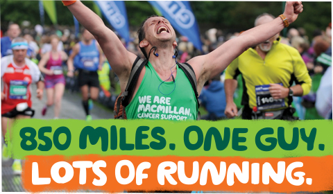Steve is running 850 miles for Macmillan