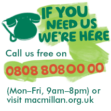 Macmillan Support Line