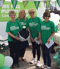Four of Macmillan's Breast Cancer Telephone Buddies
