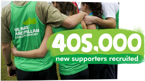 405,000 new supporters recruited
