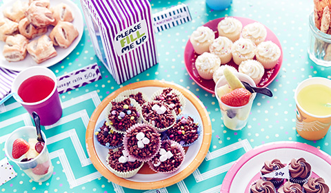 A table full of cakes and treats for a Macmillan Coffee Morning